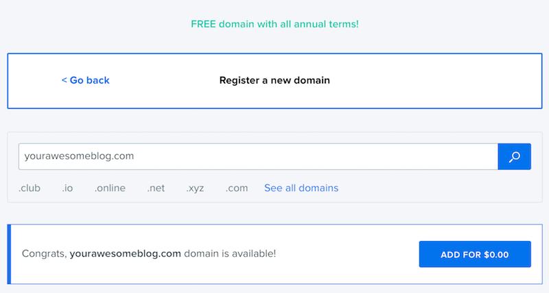 dreamhost new domain name registration