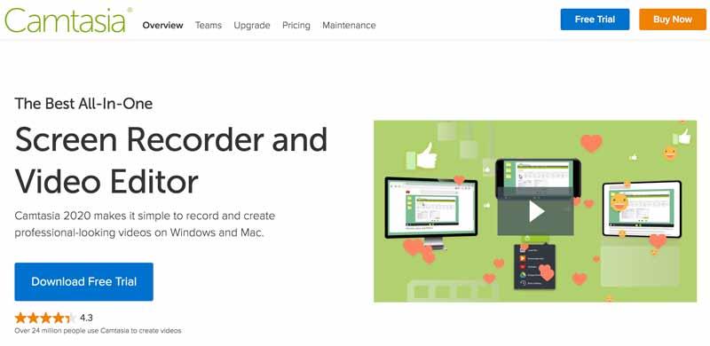Camtasia homepage