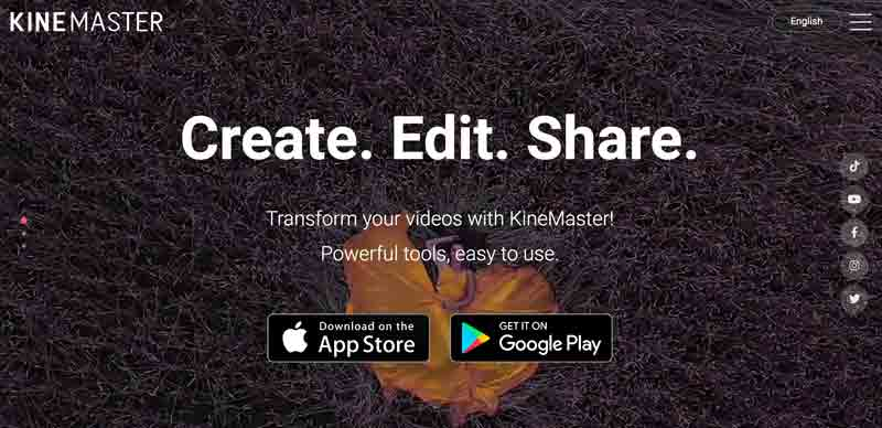 KineMaster homepage