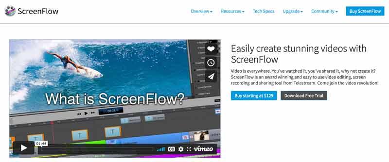 Screenflow homepage