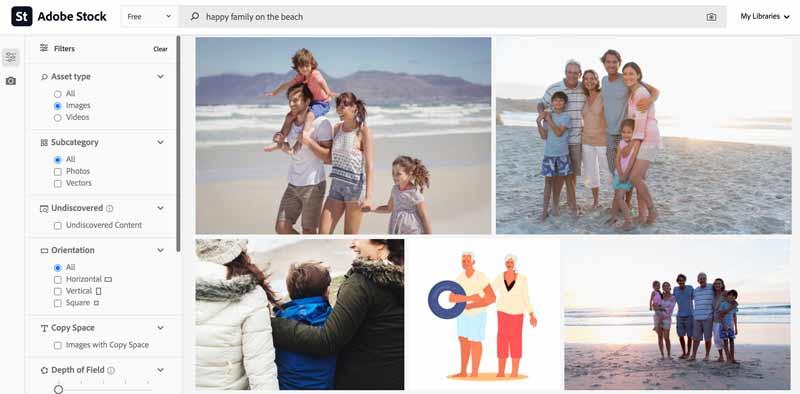 adobe stock happy family on the beach