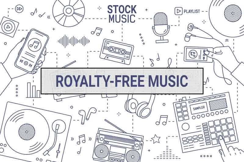 stock music vs. royalty-free music