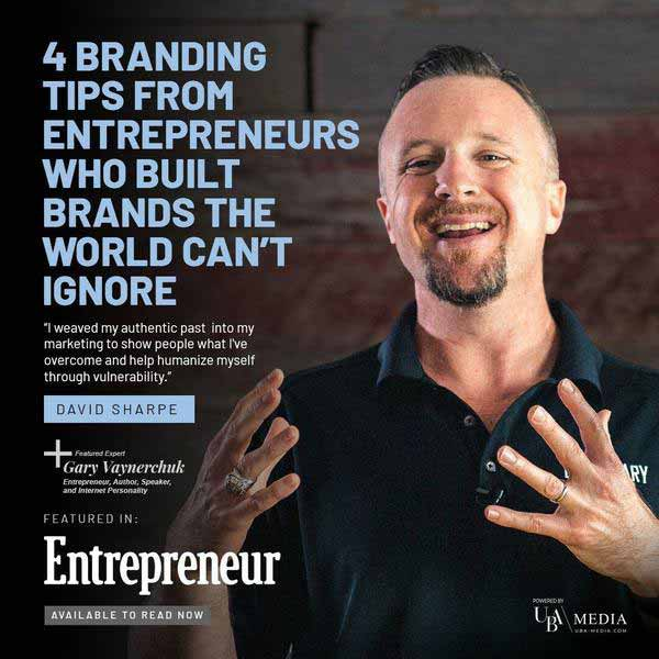 David Sharpe featured in Entrepreneur