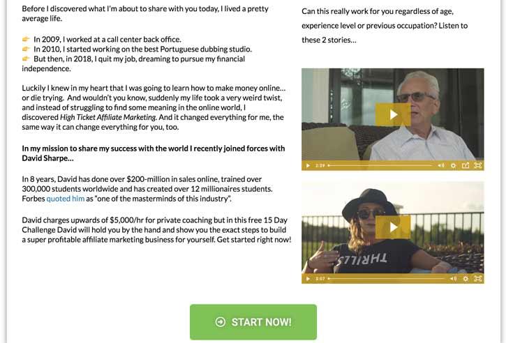 high ticket affiliate marketing bridge page