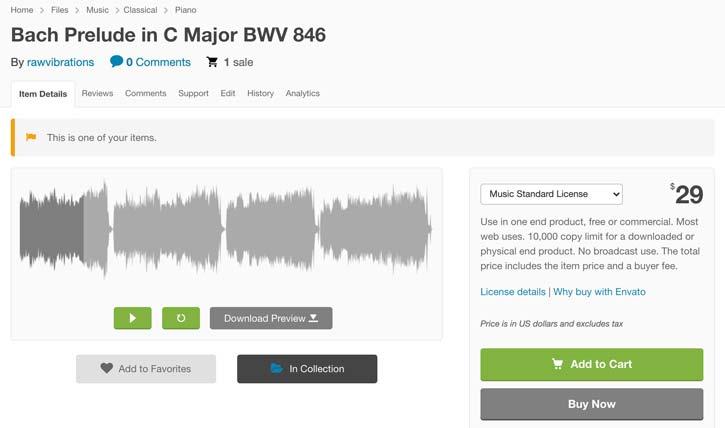 Audiojungle Bach Prelude in C Major BWV 846