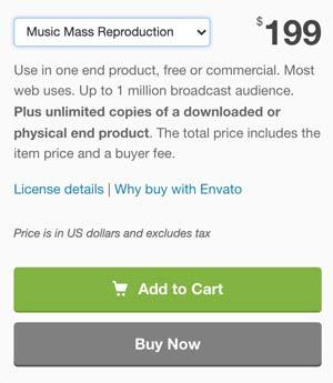 Audiojungle Music Mass Reproduction License