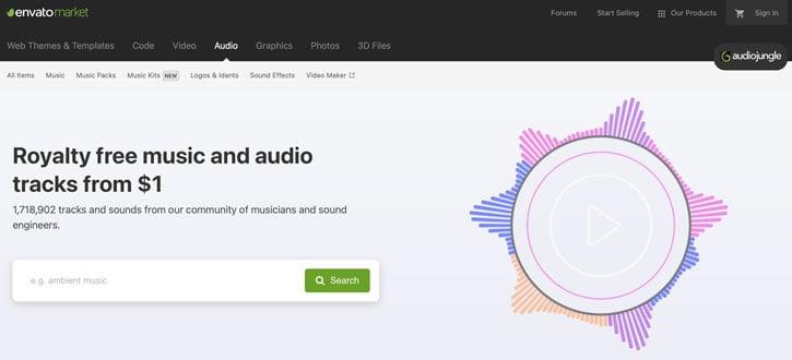 Audiojungle Royalty Free Music