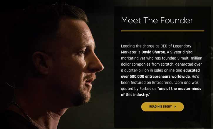 David Sharpe Legendary Marketer founder