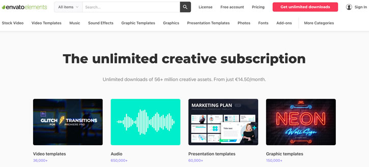 Envato Elements Royalty Free Music