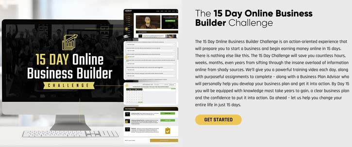 Legendary Marketer 15 Day Online Business Builder Challenge product page
