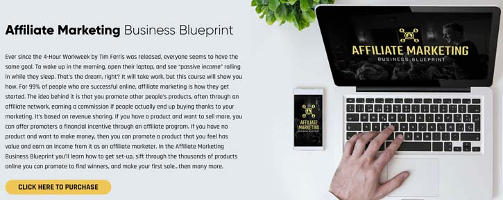 Legendary Marketer Affiliate Marketing Business Blueprint product page