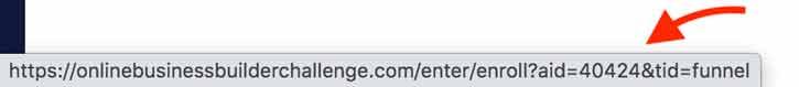 affiliate link in browser status bar